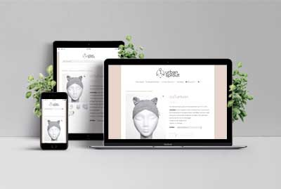 Responsive Webdesign Webshop Urban Sprout